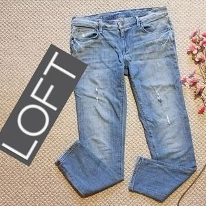 Ann Taylor LOFT relaxed mid rise skinny jeans